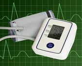 Digital blood pressure meter — Stock Photo
