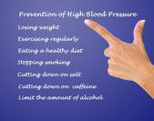 Prevention of high blood pressure — Stock Photo