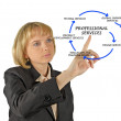 Stock Photo: Diagram of professional services