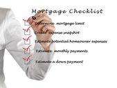 Lista kontrolna kredytów hipotecznych — Zdjęcie stockowe