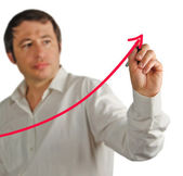 Man drawing a chart — Stock Photo