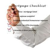 Mortgage checklist — Стоковое фото