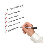 Mortgage checklist — Stock Photo
