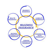 Diagram of business insurance — Stock Photo