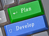 Key for plan and development — Stock Photo