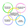 Diagram of emotional intelligence - Stock Photo