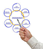 Woman presenting insurance diagram — Stock Photo