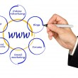 Stock Photo: Presentation of world wide web structure