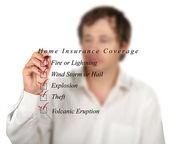 Home insurance list — Stock Photo