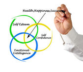 Sources of health, appiness, and success — Stock Photo