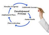 Diagram of development process — Stock Photo