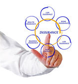 Man presenting insurance diagram — Stock Photo