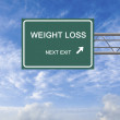 Road sign to weight loss — Stock Photo