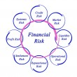 Stock Photo: Diagram of financial risks