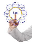 Diagram of law — Stock Photo