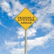 Stock Photo: Friendly attitude ahead