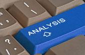 Keyboard with hot key for analyze — Stock Photo