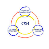 CRM diagram — Stockfoto