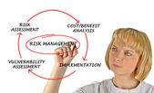 风险管理的关系图 — 图库照片