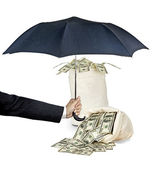 Protecting money — Stock Photo