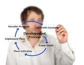 Diagram över utvecklingsprocessen — Stockfoto
