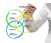 Diagram of product success — Stock Photo
