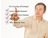 Car leasing advantages checklist — Stock Photo