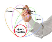 Diagram of good practice — 图库照片