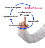 Diagram of development process — Foto de Stock