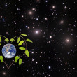 Stock Photo: Green planet.Elements of this image furnished by NASA