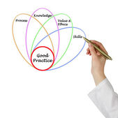 Diagram of good practice — Stockfoto