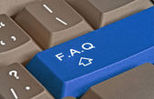 Hot key for FAQ — Stock Photo