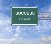 Road sign to success — Foto Stock