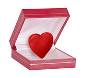 Gift box with heart — Stock Photo