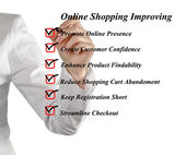 Online shopping improving — Stok fotoğraf