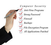 Checklist for computer security — Stock Photo