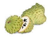 Soursop sections isolated on white background — Stock Photo