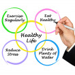 Diagram of healthy life — Foto de Stock
