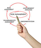 Diagram of risk management — Stock Photo