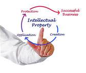 Diagrama de propriedade intelectual — Foto Stock