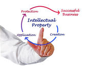 Intellectual property diagram — 图库照片
