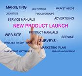 Nieuwe product te lanceren — Stockfoto