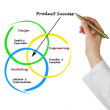 Diagram of product success — Stok fotoğraf