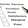 Evaluation of customer service — Stock Photo #21677523