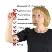 Components of eStore — Stock fotografie