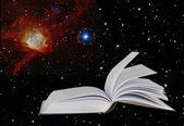 Libro sobre la estrella background.elements de la imagen proporcionada por la nasa — Foto de Stock