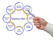 Diagram of business plan — Stock Photo