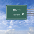 Royalty-Free Stock Photo: Road sign to truth