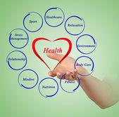 Diagram of health — Photo
