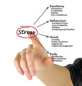 Diagram of stress consequences — Stock Photo